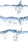 Agua que salpica conjunto — Foto de Stock