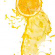 Orange juice splash - Stock Photo