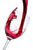 Red wine glass — Stock Photo