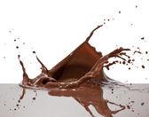 Chocolate splash — Stock Photo
