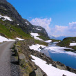 Roads in the Norwegian mountains — Stock Photo