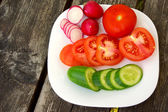 Vegetables on the plate — Stock Photo