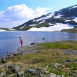 Lake in the Norwegian mountains — Stock Photo