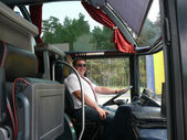 Chauffeur de bus — Photo