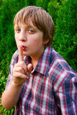 Portrait of teenage boy — Stock Photo