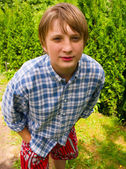 Portrét dospívající chlapec — Stock fotografie