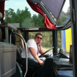 Stock Photo: Bus driver