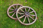 Two old wheel — Stockfoto