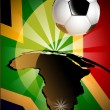 Royalty-Free Stock Vector Image: South Africa Flag & Soccer Ball Background