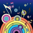 Royalty-Free Stock Vector Image: Music Rainbow