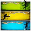 Royalty-Free Stock Vector Image: Soccer vector banners