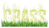 "Grass and the words ""grass"" consisting of grass — Vector de stock"