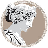 Ancient goddess — Stock Vector