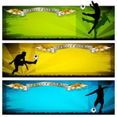 Soccer vector banners — Stock Vector