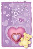 Greeting Card Valentine — Stock Vector