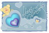 Greeting Card Valentine — Stock Vector