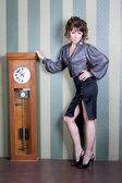 Het meisje met uren — Stockfoto