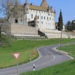 Old castle of Oron, Vaud canton, Switzerland — Stock Photo