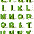 Ecological alphabet — Stock Photo