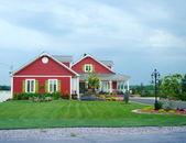 Kırmızı evleri — Stok fotoğraf
