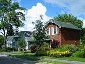 Houses in Gananoque, Ontario, Canada — Stock Photo