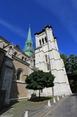Saint-Peter's cathedral in Geneva, Switzerland — Stock Photo