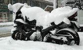 Motorcykel av vintern — Stockfoto
