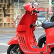 Red scooter — Stock Photo