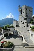 Kościół saint-nicolas, heremence, Szwajcaria — Zdjęcie stockowe