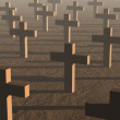 Crosses by sunset — Stock Photo