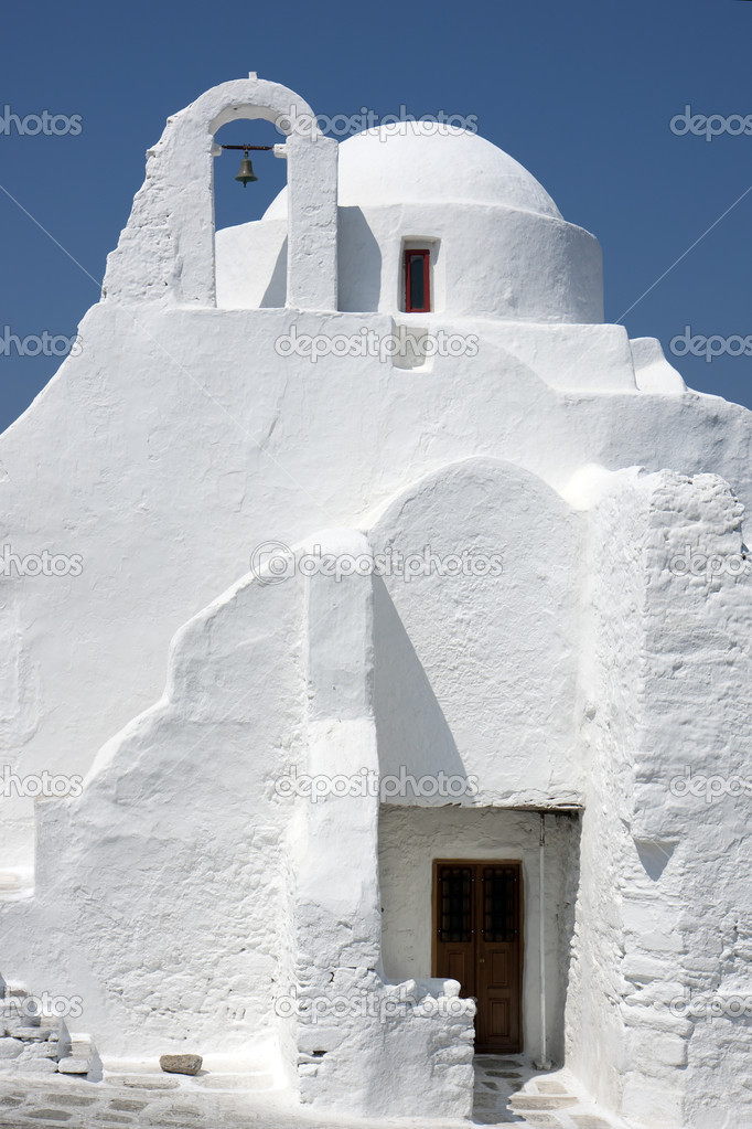 Church of Panagia Paraportiani in Chora, Mykonos, Greece.  Stock Photo #5921227