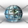 World in chains — Stock Photo
