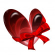 Heart with ribbon — Stock Photo