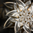 Metal flower — Stock Photo