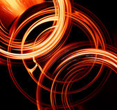 Fiery circles — Stock Photo