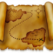 Stock Photo: Treasure map