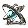 Metal atom - Stock Photo