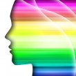Stock Photo: Rainbow silhouette