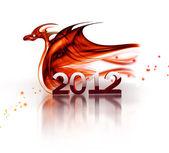 красный дракон — Стоковое фото