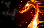 Fire dragon — Stockfoto