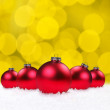 Christmas Holiday Bauble Bulbs — Stock Photo