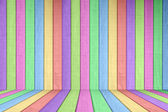 Pastel Colored Wood Fence Background Element — Stock Photo