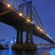 brooklyn bridge and manhattan skyline at night nyc — Stock Photo #6271051
