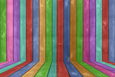 Vibrant Colored Wood Fence Background — Stock Photo