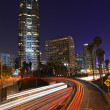 Timelapse Image of Los Angeles freeways at sunset — Stock Photo #6570846