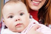 Face portrait of a baby — Stock Photo