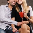 Young cheerful couple — Stock Photo