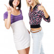 Young lovely women showing — Stock Photo #5726290