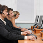 Customer service opetators at work — Stock Photo