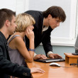 Business team working in office — Stock Photo #5726771